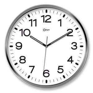 Silen chromed clock - AIC International