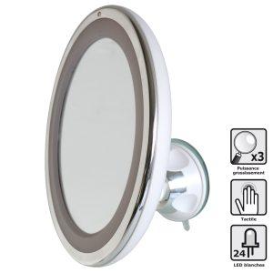 Miroir grossissant LED tactile - AIC International