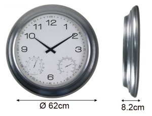 Horloge étanche Zinc Ø62cm - AIC International