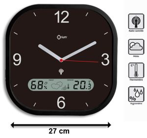 Weather RC clock 27cm - AIC International