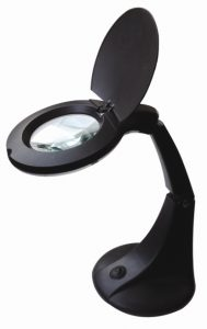 Loupe lampe orientable Noir - AIC International