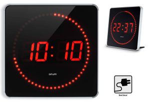 LED clock Studio alu 2in1 - AIC International