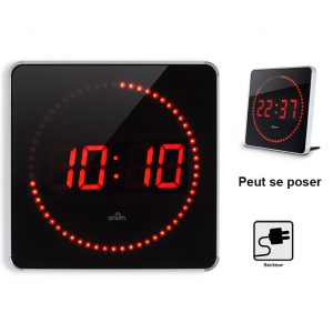 Horloge à LED Studio Alu 2en1 - AIC International