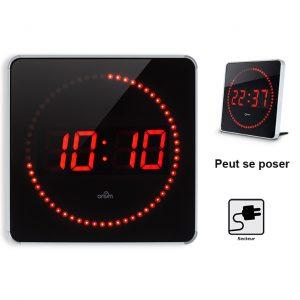 LED clock Studio alu 2in1 - AIC International