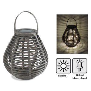 Solar lantern Rochas 21 cm - AIC International