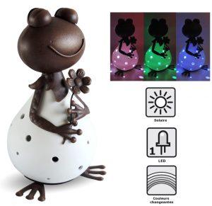 Décoration solaire Froggy 30cm - AIC International