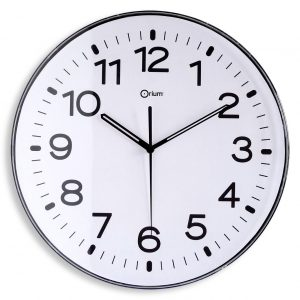 Horloge standard blanc Ø30cm
