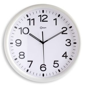 White standard clock Ø30cm - AIC International