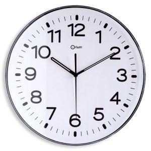 White standard clock Ø30cm