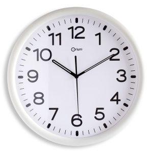 White standard clock Ø30cm - AIC International