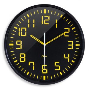 Horloge silencieuse Contraste Ø30 cm - AIC International
