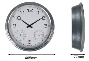 Horloge étanche Zinc Ø40cm - AIC International