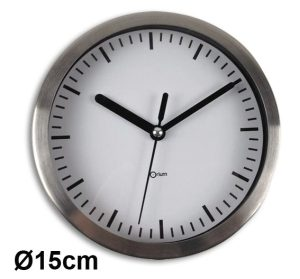Horloge inox  Ø15 cm - AIC International