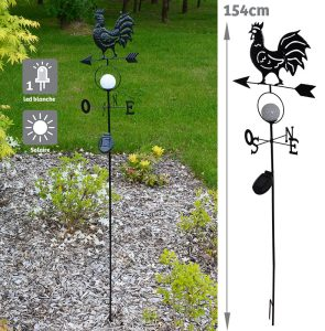 Solar bright weather vane - AIC International