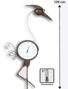 Thermometer heron decoration - AIC International