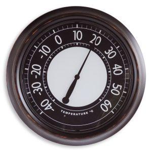 Thermomètre ext. lumineux Ø45