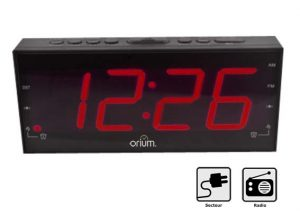 Clock-radio with red LED - AIC International