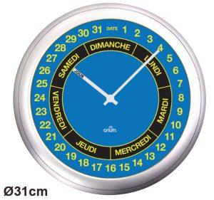 Horloge Repère jour/date Ø31cm - AIC International