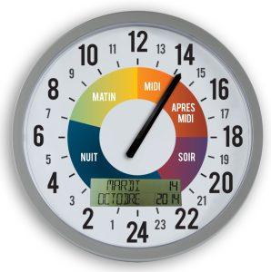 Horloge 24 h avec date Ø30 cm - AIC International