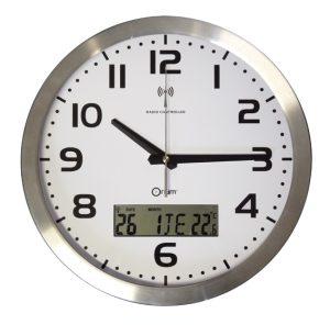 Pendule à date RC alu  Ø30 cm - AIC International