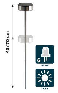 Lampe solaire Toronto 23lm - AIC International