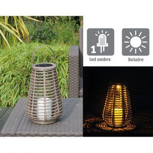 Lanterne tressée Luna H25cm - AIC International