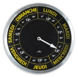 Horloge Contraste Hebdo Ø30 - AIC International