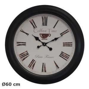 Pendule Coffee time Ø60cm - AIC International