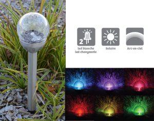 Set of 3 cracked solar lights - AIC International