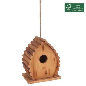FSC 100% wood birdhouse Sitelle - AIC International