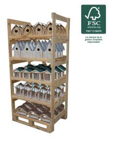 Présentoir bois oiseau 70pc (EN) - AIC International
