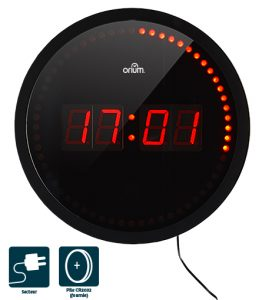 LED round clock Ø 30 cm - AIC International
