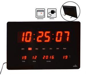 Horloge à LED rouge Chronos - AIC International