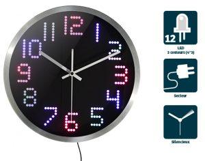 Horloge Lumineuse Iris Ø30cm - AIC International