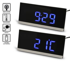 Radio-clock RC with blue LED - AIC International