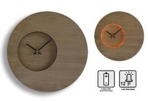 Horloge lumineuse Woody Ø35cm - AIC International