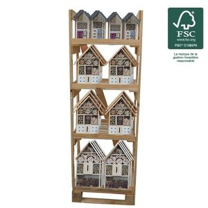 Display 36 Insect hotel FSC® certified 100% - AIC International