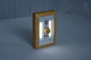 Veilleuse LED à variateur bois