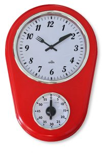 Horloge TIMER Menphis Rouge - AIC International