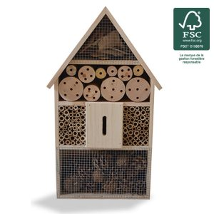 Insect hotel H48cm FSC® certified 100% - AIC International