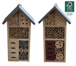 Hôtel à insectes 26cm FSC® certifié 100% - AIC International