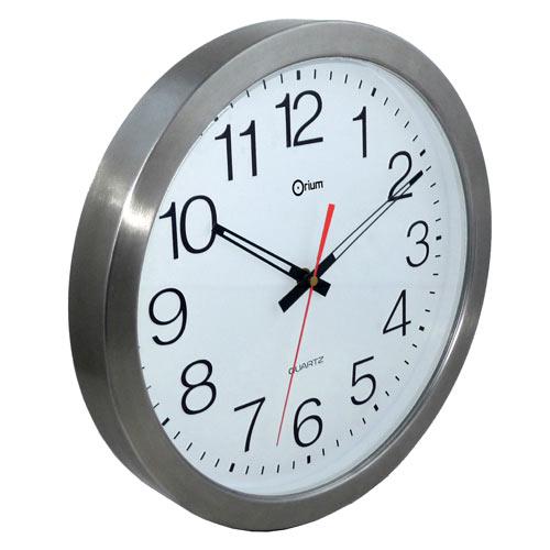 Horloge salle de bain etanche simple douche horloge for Horloge inox cuisine