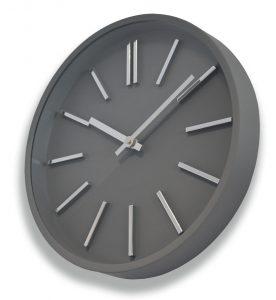 Horloge Goma silence Ø35cm grise