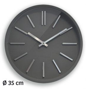 Horloge Goma silence Ø35cm grise - AIC International