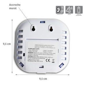 Détecteur de CO sans fil pour kit Detectys