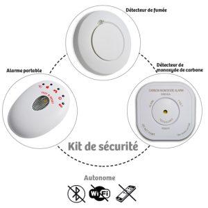 Détecteur de Fumée sans fil pour kit Detectys