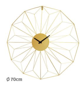 Horloge dorée Arrow Ø70 cm - AIC International