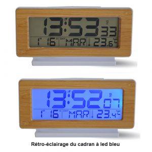 Réveil  radio-contrôlé digital Eco