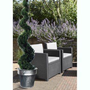 Galavnized flower pot Horticole Ø45cm - AIC International