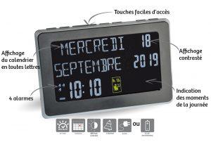 Horloge calendrier Référence - AIC International